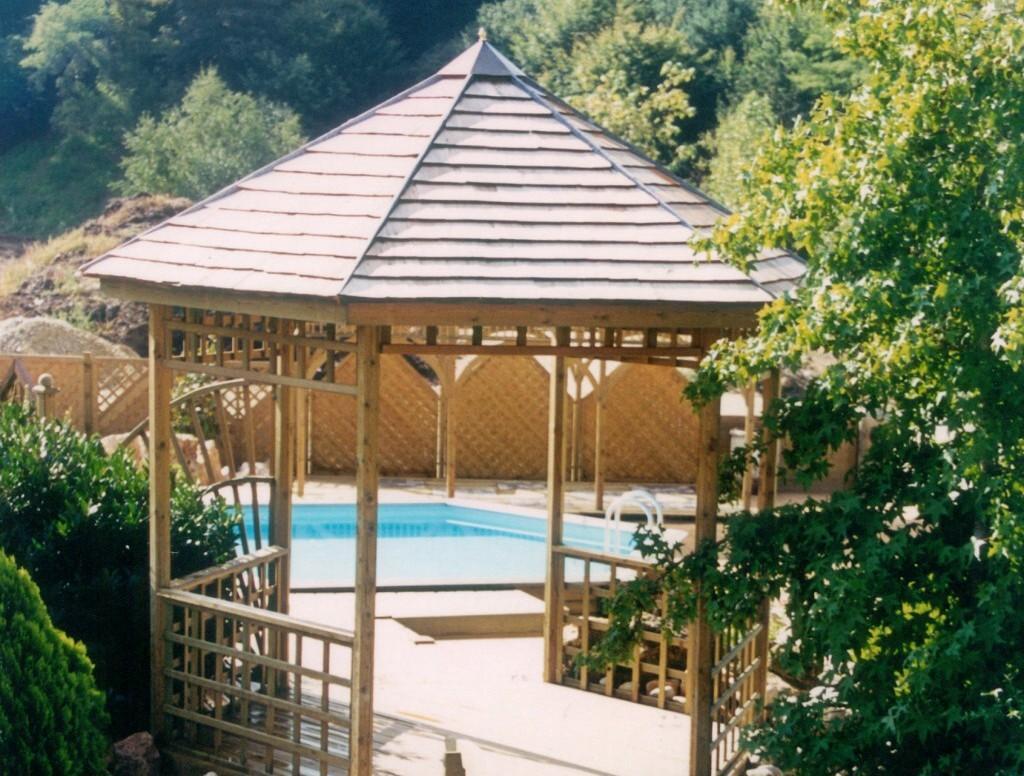 Pergola Et Kiosque De Jardin à Gloriette Bois Occasion
