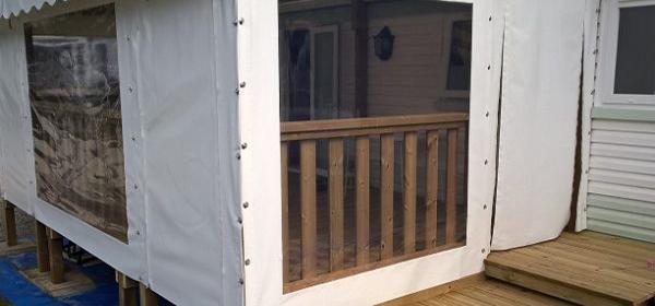 Pergolas - Toiles - Bâches - Mobilier Extérieur - Morbihan ... intérieur Kit Couverture Terrasse Mobil Home