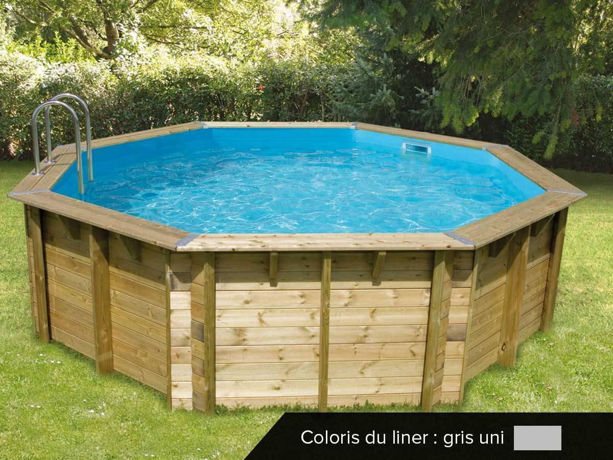 Piscine Bois Pas Cher Ocea 5,80 X 1,30 M Ubbink | Jardideco tout Piscine Bois Sunwater One 360 Ubbink