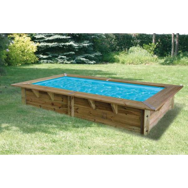Piscine En Bois Rectangulaire Ubbink Sunwater 200 X 350 encequiconcerne Piscine Bois Sunwater One 360 Ubbink