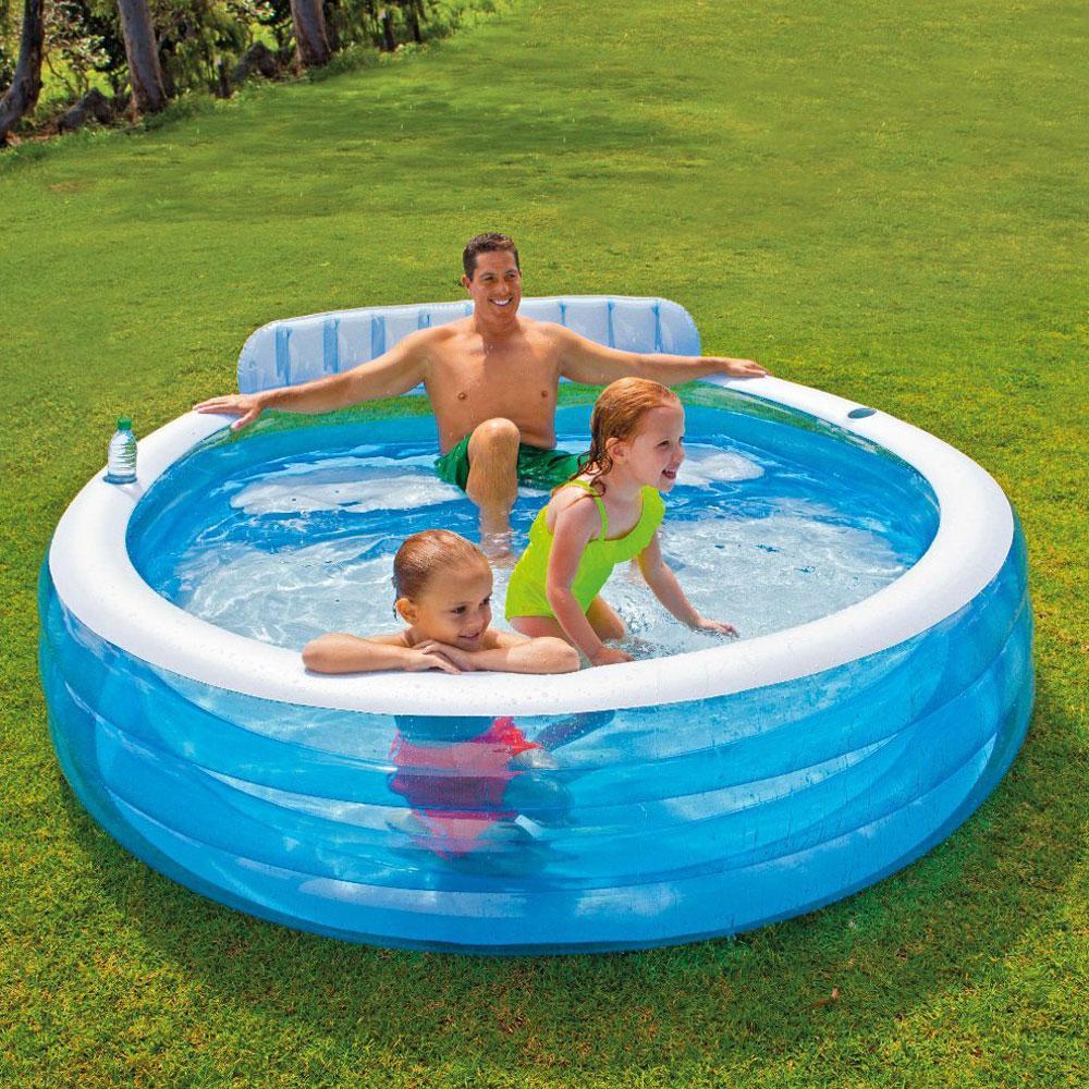 Piscine Gonflable Intex Swim Center Family Pas Cher En ... dedans Fauteuil Gonflable Intex Gifi