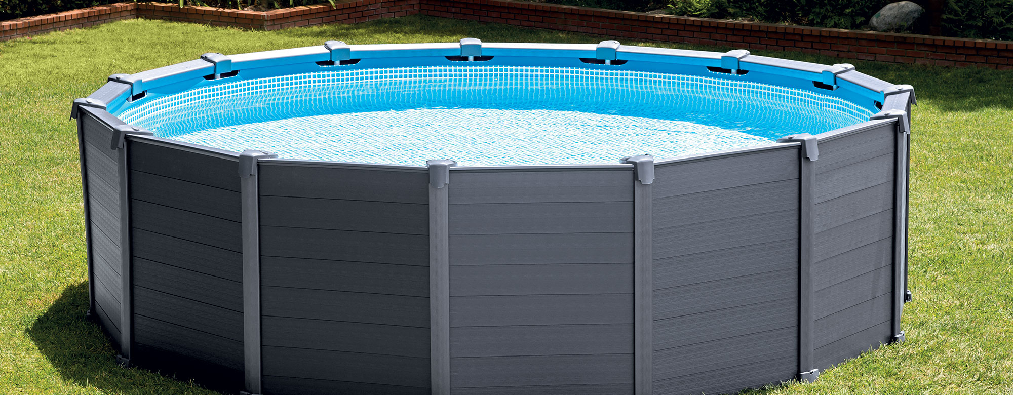 Piscine Graphite Intex Ø4,78 X 1,24M : Piscines Hors-Sol ... serapportantà Intex Graphite 4.78