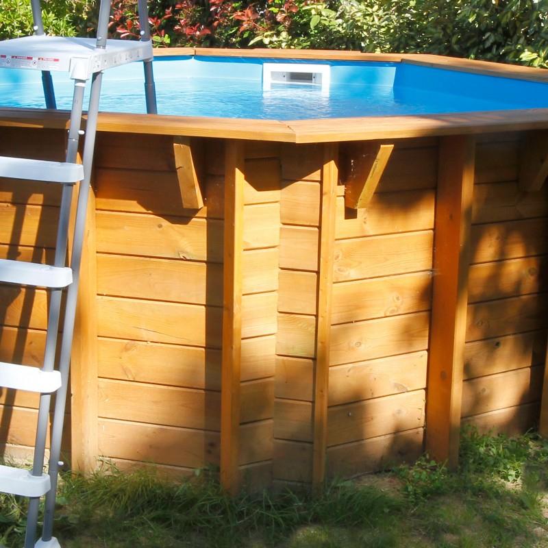 Piscine Hors Sol Bois All In One Diam 360Cm Sunwater - Ubbink à Piscine Bois Sunwater One 360 Ubbink