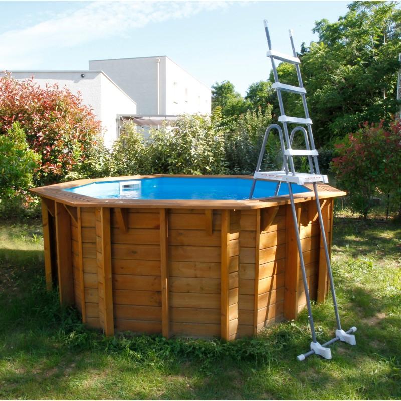 Piscine Hors Sol Bois All In One Diam 360Cm Sunwater - Ubbink pour Piscine Bois Sunwater One 360 Ubbink