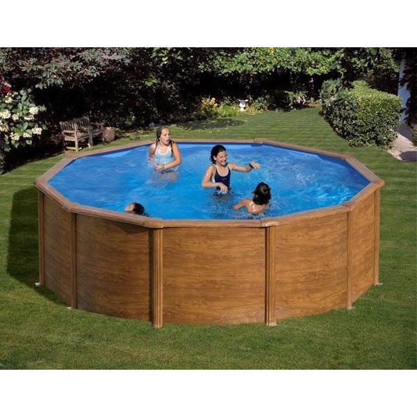 Piscine Hors Sol Gre Pool Ronde Imitation Bois Modèle Sicilia intérieur Piscine Hors-Sol Acier Castorama