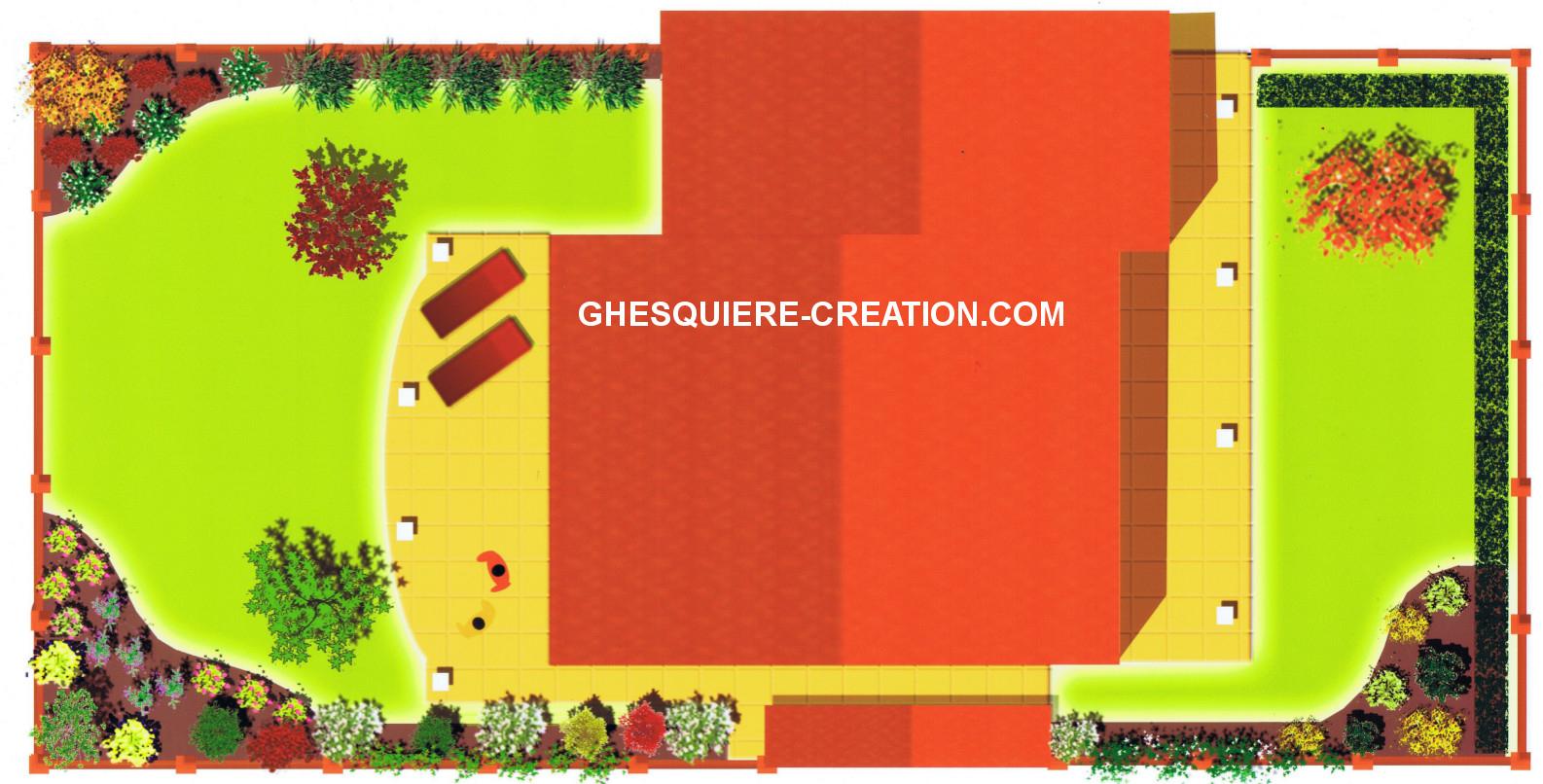 Plan Architecte Paysagiste (Haute Savoie): Votre Plan D ... avec Plan De Jardin 56