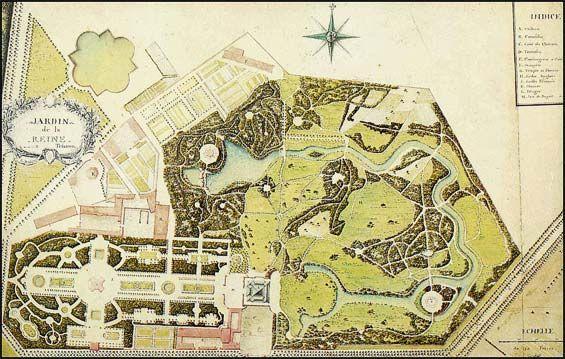 Plan Des Jardins Du Petit Trianon : À Gauche Jardin ... à Plan De Jardin 56