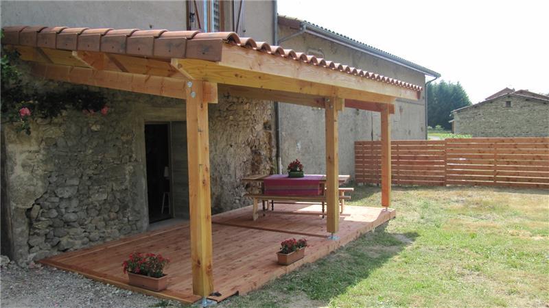 Plan Terrasse Couverte Bois - Revêtements Modernes Du Toit intérieur Plan Pergola Bois Couverte