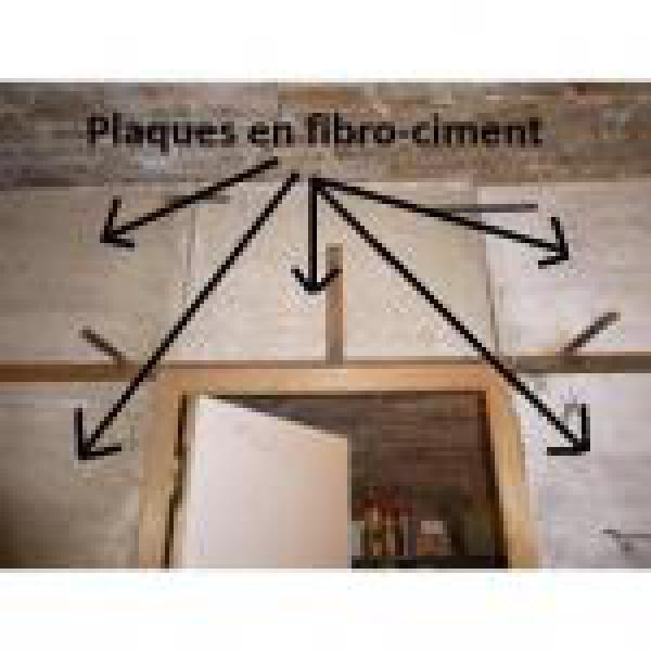 Plaques En Fibro-Ciment Utilisées Pour Faire Une Cloison destiné Plaque Fibro Ciment 2M50