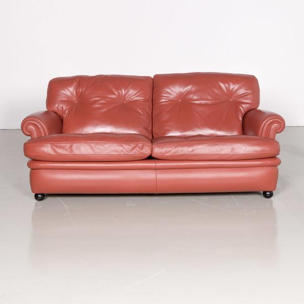 Poltrona Frau Dream On Designer Leather Sofa Orange Two ... tout Sofa Dreams France