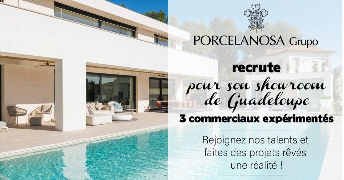 Porcelanosa Caraïbes Recrute 3 Commerciaux En Guadeloupe ... destiné Carrelage Espagnol Porcelanosa