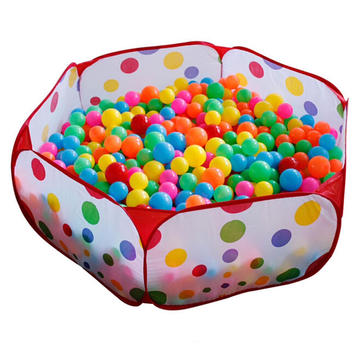 Portable Foldable Ocean Ball Pit Pool Holder Indoor ... encequiconcerne Piscine À Balles Gifi