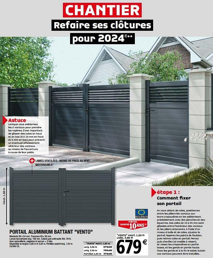 Portail Vento Brico Depot - Gamboahinestrosa pour Portail Coulissant 3M50 Brico Dépôt