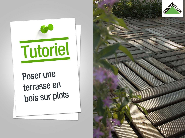 Pose Terrasse Bois Sur Dalle Beton Avec Plot - Veranda ... destiné Plot Béton Leroy Merlin