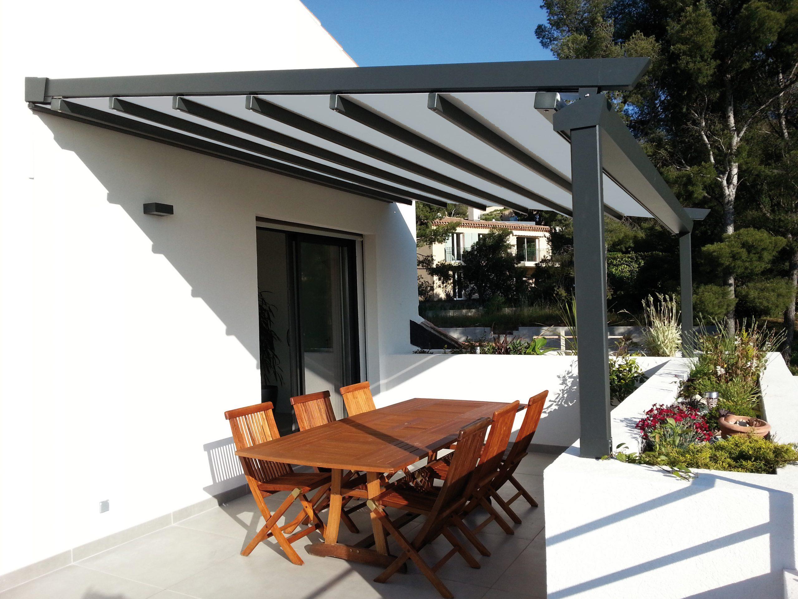 Préau, Pergolas Couvertes, Couverture De Terrasse ... pour Plan Pergola Bois Couverte