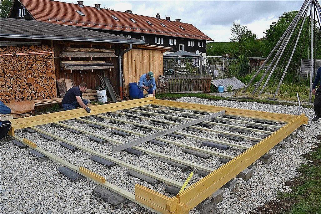 Prix Terrasse Bois Sur Plots Beton - Veranda-Styledevie.fr avec Plot Beton Terrasse
