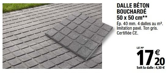 Promotion Brico Depot: Dalle Béton Bouchardé - Produit ... tout Dalle Béton 100X100 Brico Dépôt
