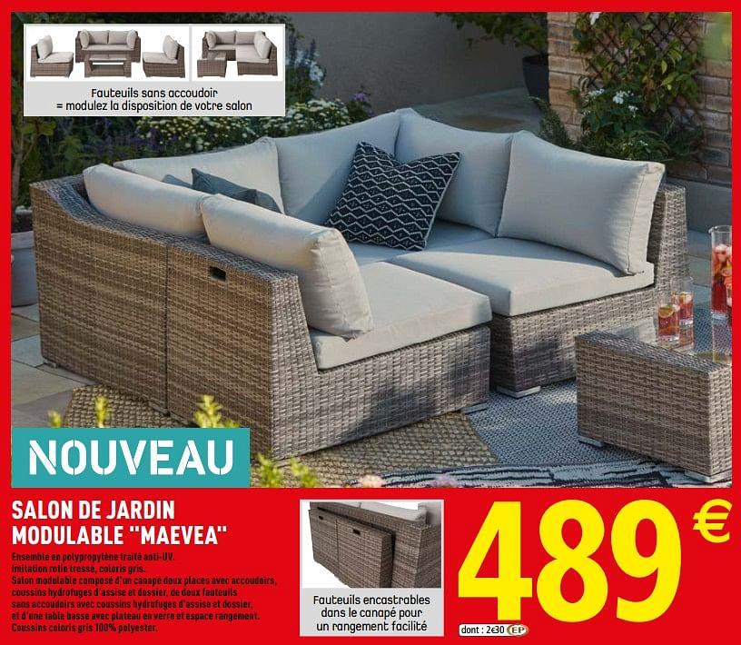 Promotion Brico Depot: Salon De Jardin Modulable Maevea ... concernant Incinerateur Jardin Brico Depot