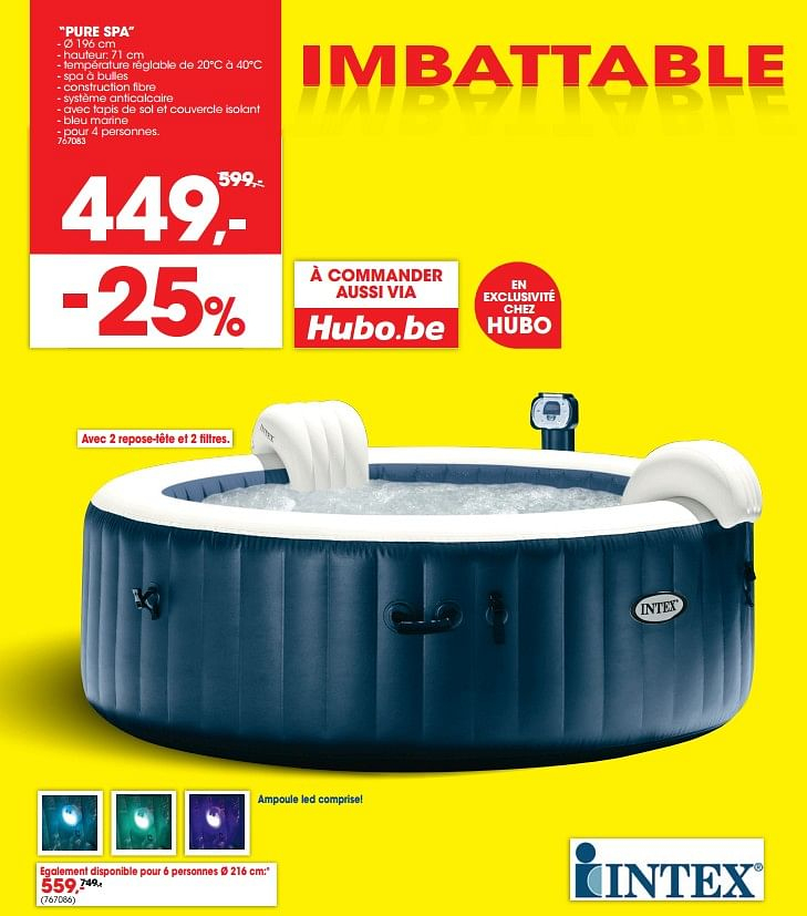 Promotion Trafic: Spa - Intex (Piscine & Sauna ) - Valide ... intérieur Piscine Miami Carrefour