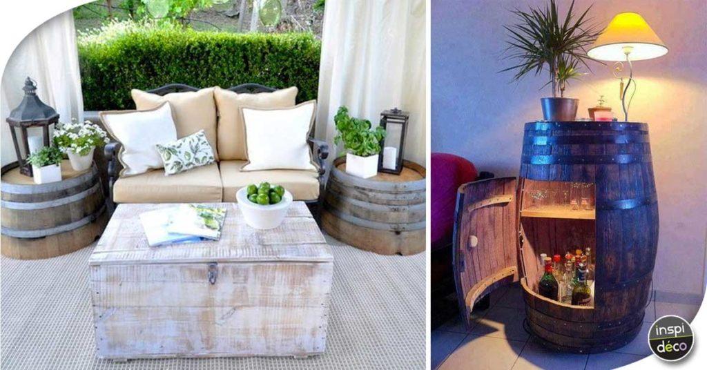 Recycler Des Tonneaux De Vin Pour Décorer Son Intérieur ... tout Salon De Jardin En Tonneau