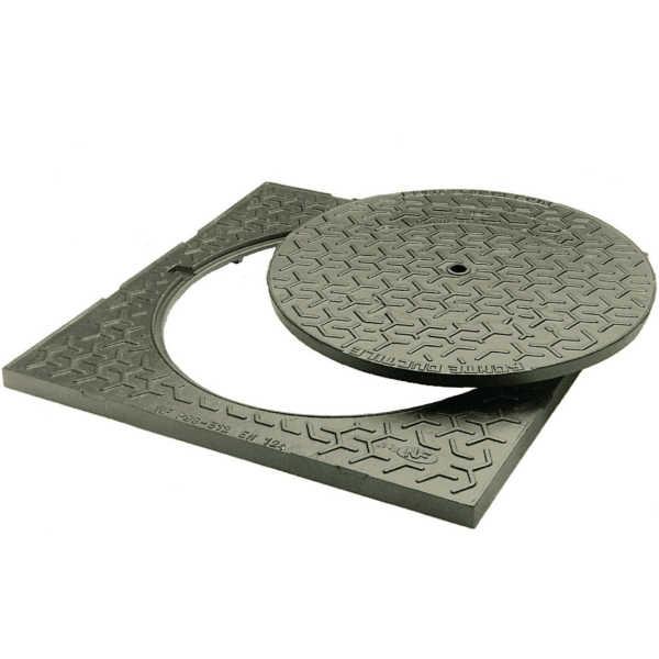 Regard De Trottoir 40 X 40 Fonte Ductile - Materiauxnet dedans Couvercle Regard Passage Voiture