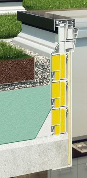 Réhausse 30 Cm Xrd/W - Pour Fenêtre Toit Plat à Rehausse Beton 100X100