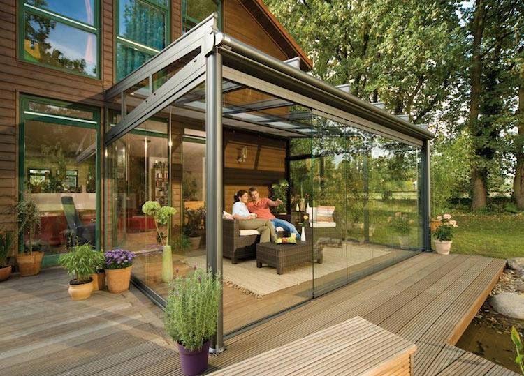 Related Image | Toit En Verre, Pergola Bioclimatique ... intérieur Terrasse Couverte Moderne