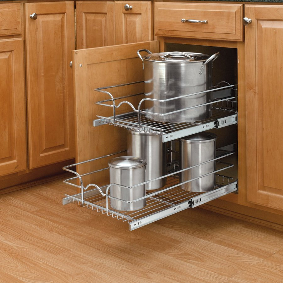 "Rev-A-Shelf 18"" Double Pull-Out Basket Chrome 5Wb2-1822-Cr ... tout Reva Out"