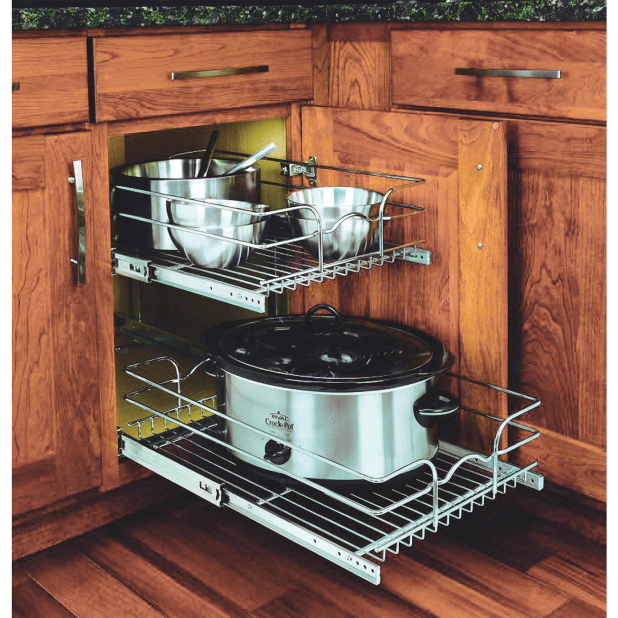 Rev-A-Shelf 2-Tier Pull-Out Cabinet Organizer - Walmart ... destiné Reva Out