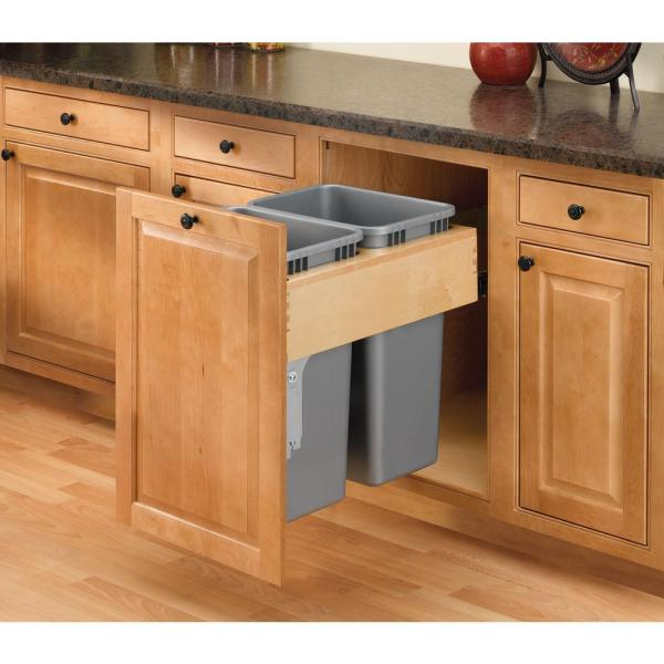 Rev-A-Shelf Double 50 Qt. Pull-Out Top Mount Wood And ... à Reva Out
