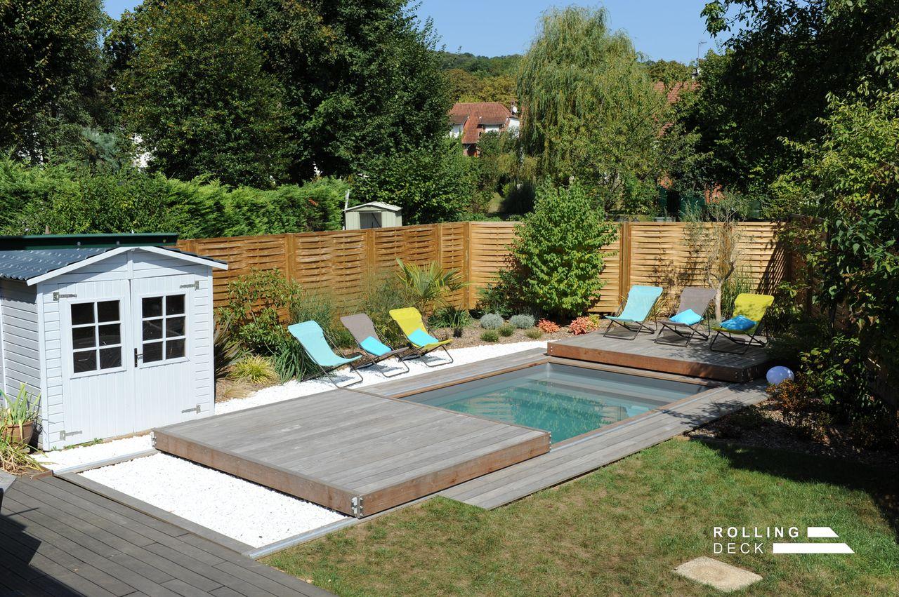 Rolling-Deck - La Couverture-Terrasse Mobile De Piscine Et ... pour Fabriquer Un Rolling-Deck
