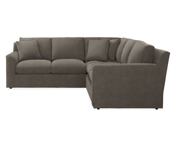 "Room & Board - Malone 111X111"" Three-Piece Sectional ... destiné Chaise Malone But"