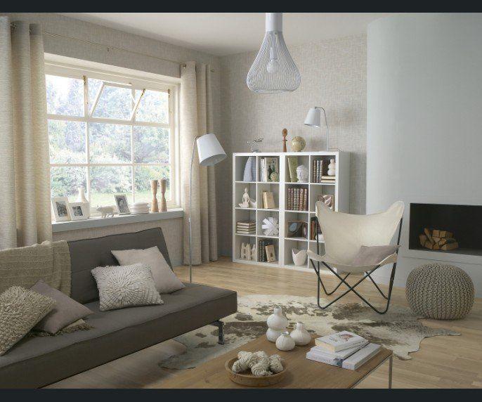 Salon Sejour Blanc/Beige/Naturel Autre Style | Déco Salon ... concernant Salon Beige Et Blanc