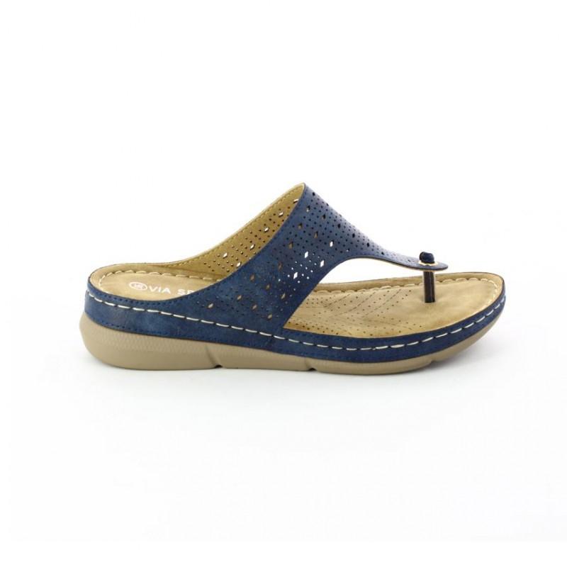 Sandalias Para Mujer Marca Via Spring Color Azul ... serapportantà Andalias.de