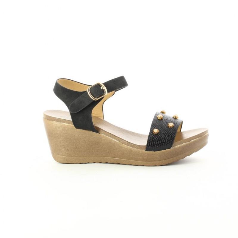 Sandalias Para Mujer Marca Via Spring Color Negro ... tout Andalias.de