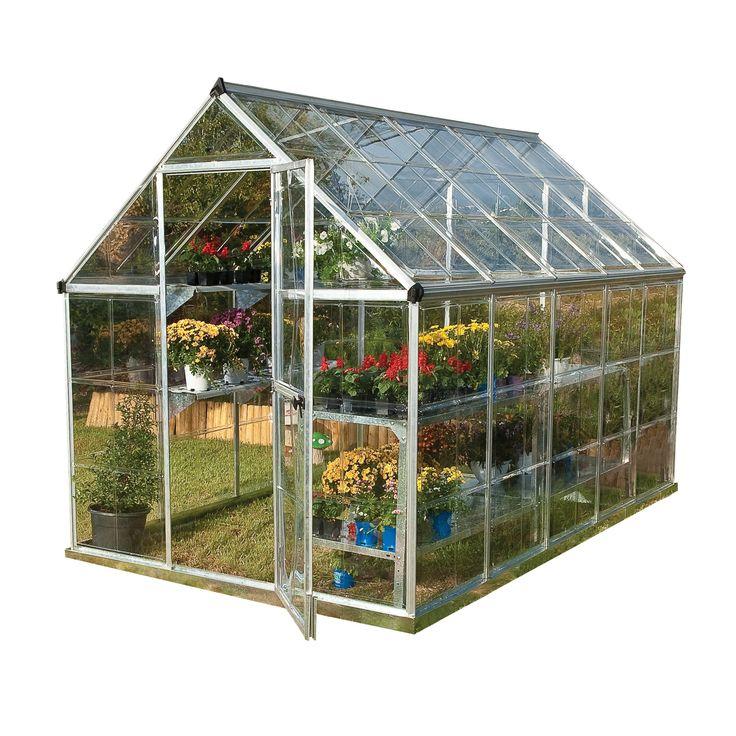 Serre De Jardin Argent Harmony 5.6 M², Aluminium Et ... tout Serre De Jardin Lidl 2020