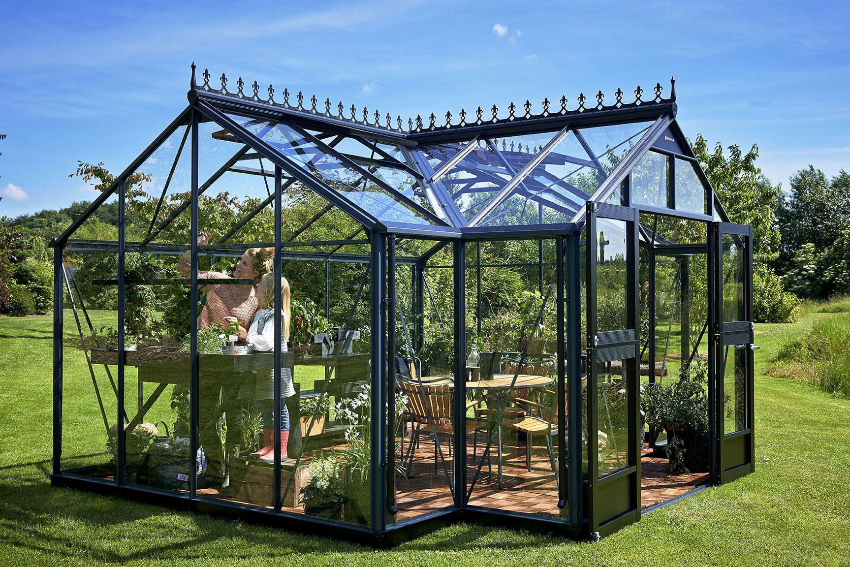 Serre De Jardin Orangerie - Mobilier De Jardin Et Terasse dedans Serre Occasion Verre