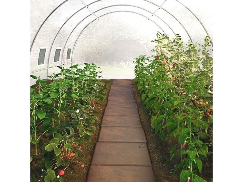 Serre De Jardin Tunnel 12 M² Blanche Translucide 3X4 M ... serapportantà Serre De Jardin Tunnel 12M2 Blanche Translucide 3X4 M