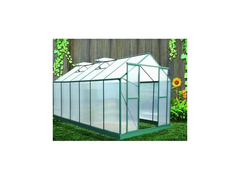 Serre En Polycarbonate De Jardin - 12.8M² - Aluminium ... concernant Abri De Jardin Aluminium Double Paroi