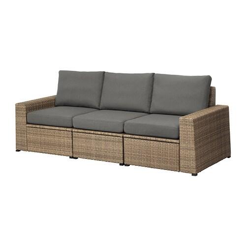 Sollerön 3-Seat Modular Sofa, Outdoor - Brown/Frösön ... avec Ikea Solleron Review