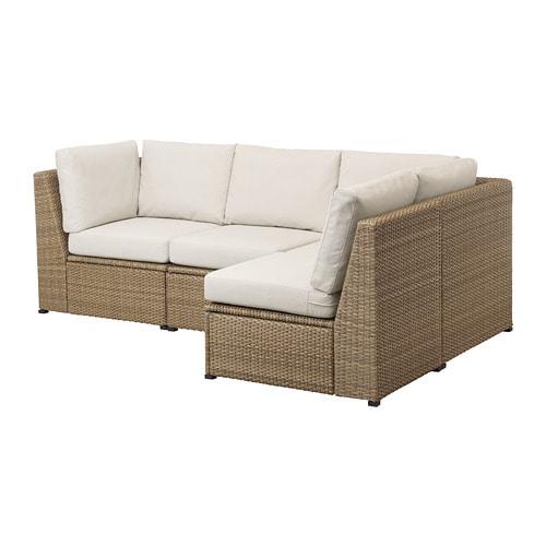 Sollerön Modular Corner Sofa 3-Seat, Outdoor - Ikea destiné Ikea Solleron Review