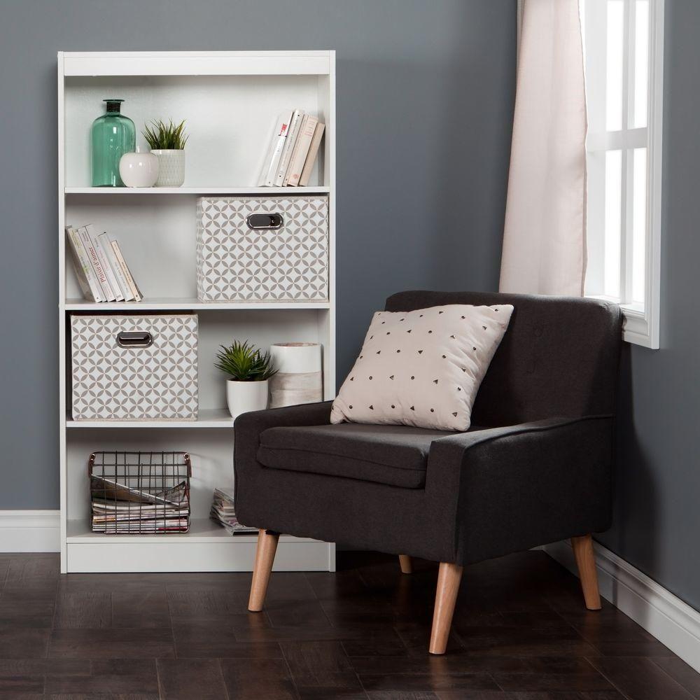 South Shore Axess Pure White Open Bookcase 8050142K ... dedans Naterial Kerno Axess