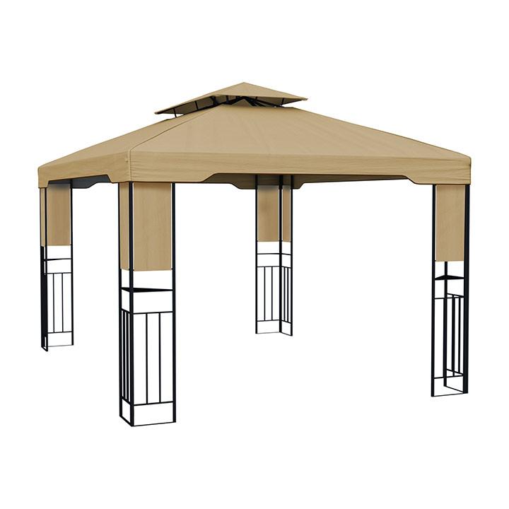 Structure De Tonnelle Avec Toit Delux, 3X4 M | Accessoires ... encequiconcerne Tonnelle Martika