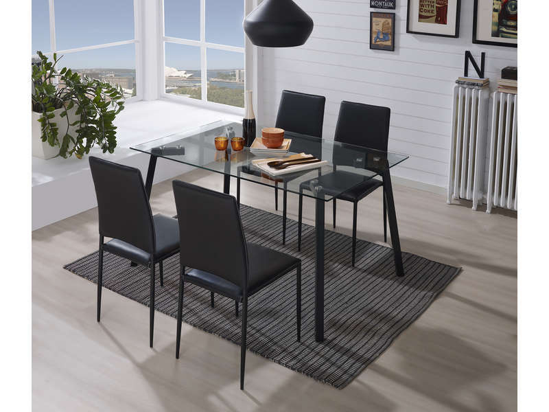 Table + 4 Chaises À 168.19€ @ Conforama concernant Table Avec Chaise Encastrable Conforama