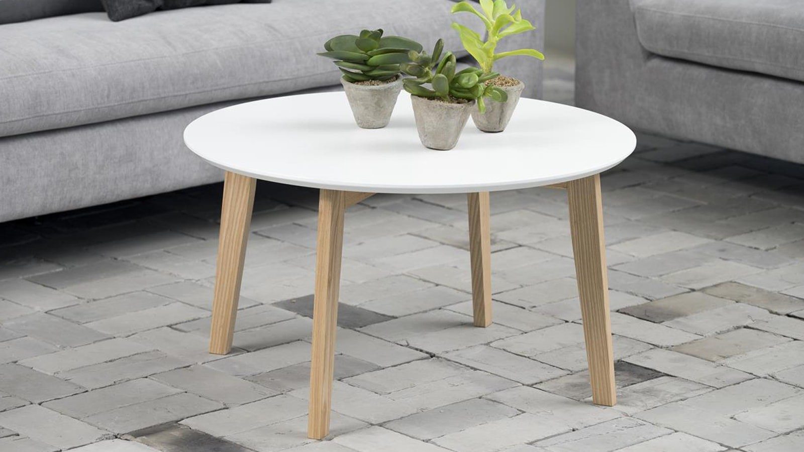 Table Basse Ronde Scandinave serapportantà Chaise Gaby Gifi