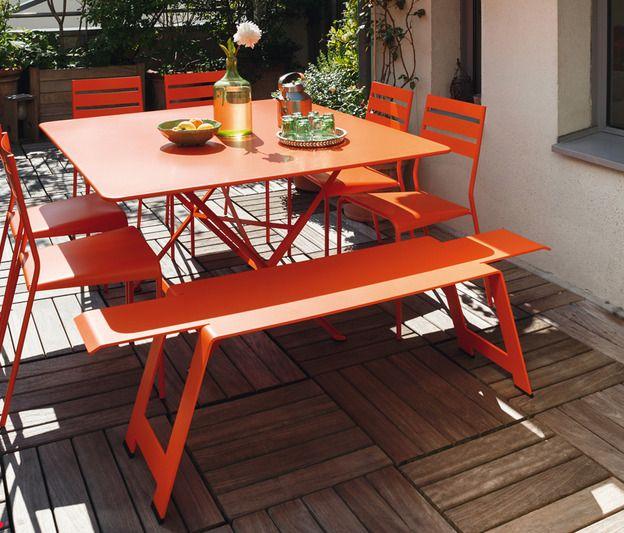 Table Cargo, Table De Jardin, Table Jardin 8 Personnes ... intérieur Table Fermob Cargo Soldes