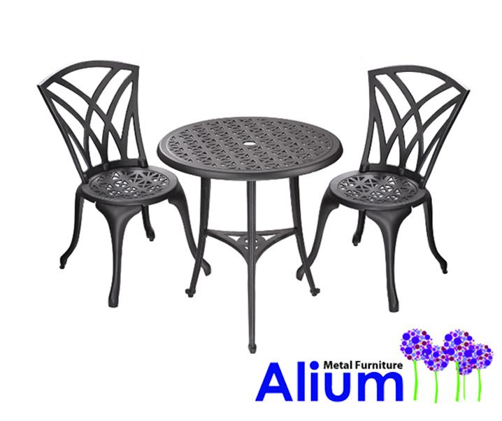Table De Jardin 2 Personnes Aluminium avec Table Pliante Intermarché