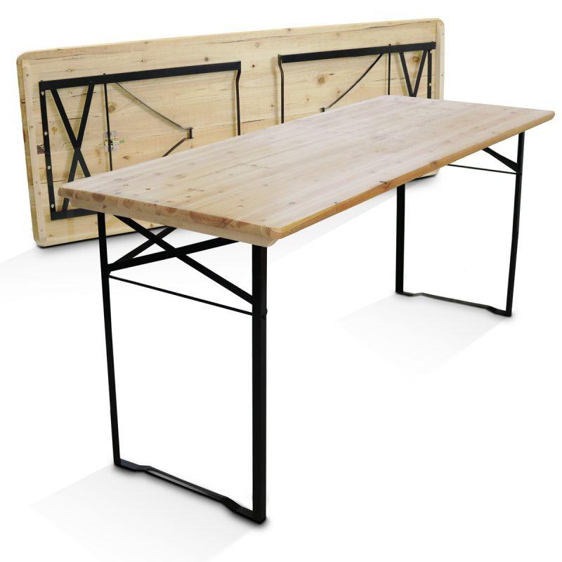 Table Pliante Bois 8 Places 180Cm Professionnelle intérieur Table Pliante 180 Cm Leclerc