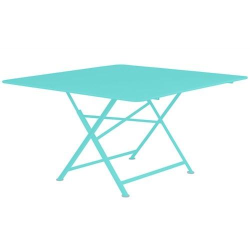 Table Pliante Cargo De Fermob Bleu Lagune avec Table Fermob Cargo Soldes