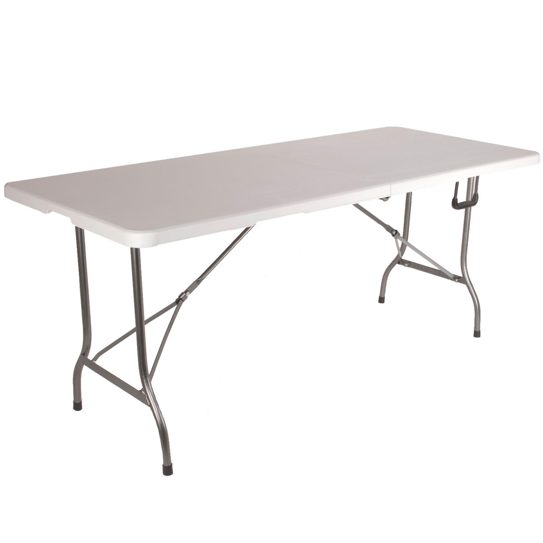 Table Pliante Pas Cher - Jardin, Camping Et Réceptions ... pour Table Pliante 180 Cm Leclerc